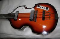 McCartney Hof H500 / 1-CT Çağdaş Keman Deluxe Bas Vintage Sunburst Elektro Gitar Alev Maple Yukarı Geri 2 511b Zımba Pickups