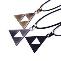 Triforce Zelda Two Triangle Necklace The Legend of Zelda Collana Triforce Pendan Alloy Triangle Movie Jewelry DHL