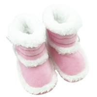 Großhandelsmodische Säuglingskleinkind-Kind-Mädchen-warme Winter-Schnee-Schuh-Baby-Wanderer-Krippen-Aufladungen 0-18M