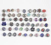 50 pcs / Lots 12 MM Snap bouton Style mixte Diy bijoux interchangeables Snap Chunk charme bouton Fit Noosa Ginger Snap Bracelets