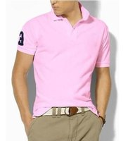 Big Size S- 6XL Polo Shirt Men Big Horse Solid Short Sleeve S...