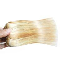 P27 / 613 Bleach Blonde 6A + необработанные девственницы бразильские волосы прямые реми человеческие волосы плетение 1 шт. / Лот, двойной рисунков, не пролить