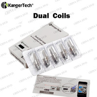 Original Kanger Upgraded double Bobines 0.8ohm 1.0ohm 1.2ohm 1.5ohm 1.8ohm remplacement Coil Head Fit Kangertech sous Tanks ohm
