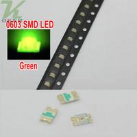4000 PCS / Spule SMD 0603 Jade-Grün LED Lampe Dioden Ultra Bright 0603 SMD grüne LED Freies Verschiffen