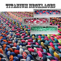 New titanium braided 3 ropes tornado necklaces for SPORTS fo...