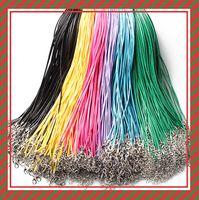 14 색상 50cm 왁스 가죽 목걸이 구슬 끈 밧줄 목걸이 브레이슬렛 DIY 쥬얼리 발견 저렴한 161211
