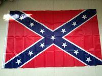 trasporto libero othe confederato Battle Flags Two Sides Stampato bandiera confederata Rebel Civile Bandiera di Guerra nazionale del poliestere Bandiere