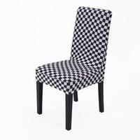Vente chaude Haute Qualité À La Mode Universel Lycra Spandex À Manger Couverture De Chaise À La Maison Avec Motif En 6 Modèles
