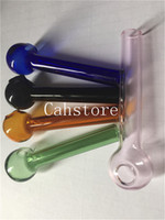 colorato Pyrex 7cm Vetro bruciatore a olio tubo di vetro trasparente olio bruciatore tubo di vetro tubo di vetro olio unghie