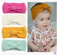 2016 bebê meninas acessórios de cabelo borboleta knitting kids faixa de cabelo estilo europeu grande curvas headwear protetor de ouvido headwear H149