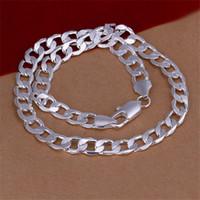 Heavy 66g 12mm lateral lateral lateralmente homens esterlinas colar de prata stsn202, venda por atacado moda 925 cadeias de prata colar fábrica venda direta
