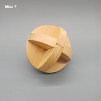 Natural de madeira Lu bloqueio Bloqueio Bola Cérebro Teaser Puzzles Brinquedos Educativos De Madeira