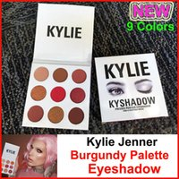 NEW 9 Colors Kylie Jenners Burgundy Eyeshadow palette Kylie ...