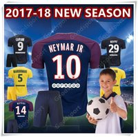 2018 YOUTH NEYMAR JR Kids Kits Shirt T SILVA CAVANI DI MARIA PASTORE Verratti 2017 Детский Джерси Футбол LUCAS Дети Футбольные Jerseys