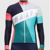 nuevo llega 100% poliéster 2016 maap Team Bike Bike Jacket Manga larga Ciclismo Jerseys ropa de ciclismo Envío Gratis