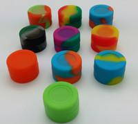 EUA Canadá FDA food grade antiaderente pequeno acabamento matte armazenamento recipiente de silicone 3 ml para o óleo de cera