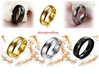 18Pcs Stainless Steel Lord of the Ring Smooth- sided Mens Jew...