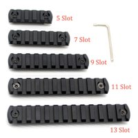 5 7 9 11 13 slots M- lok Picatinny Rail Sections Black Anodiz...