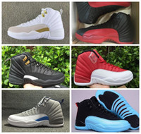 Mens Athletic 12 XII Flu Gioco Basket Sport Scarpe per adulti 12s Sneakers Playoff Taxi gamma blu master US8-13
