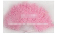 21 Folding Staves handmade marabou feather fan   feather cra...
