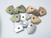 Kreative Poker Spielkarten Zappeln Spinner Neuheit Spielzeug Zappeln Hand Spinner Dekompression Spielzeug Metall Legierung Freies Verschiffen.