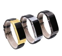 D8S intelligentes Armband Armband Armband Bluetooth Uhr Telefon Pedometer tragbare Schlaf Überwachung mit Lederband für Männer Frauen