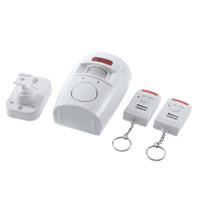 Kablosuz PIR Hareket Sensörü Alarmı hırsız alarmı hareket alarmı 2 Uzaktan Kumandalar Ev Güvenlik Garaj Garaj