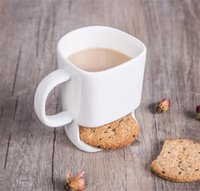 Ceramic Mug White Tea Biscuits Milk Dessert Cup Tea Cup Coff...
