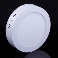 20 stuks / partij 6W 12W 18W LED-paneelverlichting Vierkante ronde downlights Eenvoudig te installeren Warme / natuurlijke / coole witte AC110-240V Opbouw Binnenverlichting