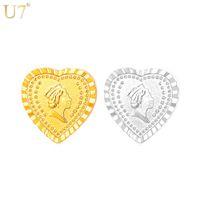 Único Europeu Rainha Europeu Broches Com Coração de Jóias Por Atacado 18 K Real Banhado A Ouro Cabeça de Rainha Broches Pinos Jóias Mulheres B113