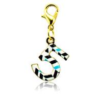 Fashion Charms galleggianti placcato oro multicolore numero 5 aragosta chiusura fascini in lega gioielli fai da te accessori ordine della miscela