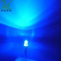 1000 stücke 3mm Blau Flache top LED Licht Lampe led Dioden 3mm Flat Top Ultra Helle Weitwinkel-leds Kostenloser Versand