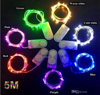 CR2032 battery operated 5M 50LEDS micro led fairy string lig...