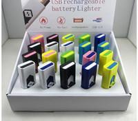 USB 전자 충전식 Flameless 시가 담배 라이터 LED 충전식 담배 Flameless 라이터 Windproof USB 라이터