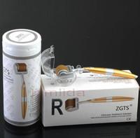 10 pcs ZGTS Liga de Titânio Derma Roller 192 agulha equipamentos de terapia Médica microneedle dermaroller meso rolo de beleza