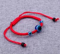 12 OFF Charm Bracelets / lot rote Schnur Blicks-Lucky Red Schnur-justierbare Armband-Geschenk DIY