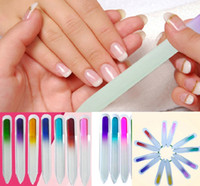 9CM 14CM Nail Glass Files Durable Crystal File Nail Buffer Nail Care Cualquier color enviado por al azar