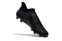 Black Colors Ace 17+ Purecontrol Soccer Cleats Alta qualità 100% originale Messi Outdoor Scarpe da calcio X 17+ Purechaos FG 39-45 Scarpe da calcio