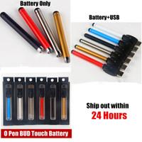 510 fil auto batterie Bud tactile Vape Batteries Pen et USB Chargeur O Pen Bouton vaper pour CE3 Vape huile cartouche cigarette électronique