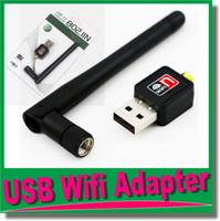 مصغرة 150Mbps USB واي فاي محولات الشبكة اللاسلكية بطاقة الشبكة محول مع هوائي 2dbi لملحقات الكمبيوتر