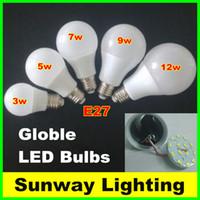 Retail Dimmable A60 A19 SMD2835 B22 E27 LED Light Bulbs 3w 5w 7w 9w 12w A60 A19 LED Globe Lights Lamps AC85-265V
