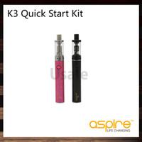 Aspire K3 Kit De Démarrage Rapide Avec 2ml K3 Réservoir 1200mAh K3 Batterie 1.8ohm Aspire Nautilus BVC Bobines 100% Original