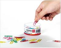 200 pcs / boîte, 3 boîte / lot Taille 29mm Qualité Nickel Plaqué Trombones / Broches Push Pins Binder Clips Thumb Tacks Mode Fournitures De Bureau