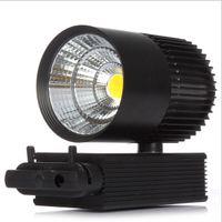 2016 nouvelles arrivées COB 30W Led Track Light Lampe pour magasin centre commercial AC85-265V Led Spotlight blanc / noir logement luminaire