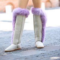 2016 women fashion real fur boots Factory wholesale price fr...