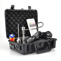 Günstige Pelic Elektrische Dab Nagel Box Komplette Kit Titan Nagel Carb Cap kit Temperaturregler 100 watt für Rig Ölglas Bongs wasserleitung