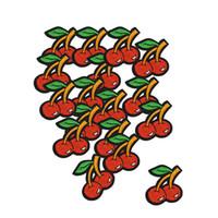 DIY Cherry Patches для одежды Железный Вышитый патч Аппликация Утюг на патчах Швейные аксессуары Наклейки значка на Сумки 10 шт.