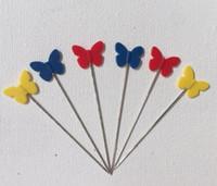 Venta caliente! 100 unids / set Multi color mariposa plana Pasadores para coser proyectos de bricolaje, shiipping gratis