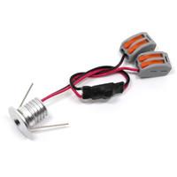 6pcs LED 1W Décor Downlight, Produits phares, Mini Spot LED Downlights Cabinet Lumières 12VDC conducteur coupe 15mm