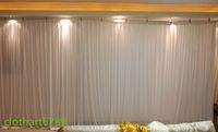 3m * 6m sfondo bianco per tutti i colori del partito cortina di nozze arcobaleno sfondo Stage Performance Sfondo Drape parete Valane fondale